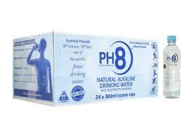 PH8 Water Alkaline 500ml (24ea/box)