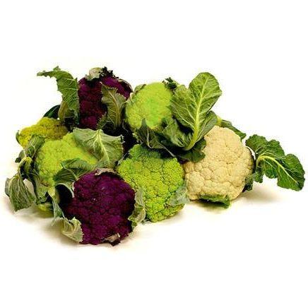 Organic Cauliflower TriColour (6ea/box)