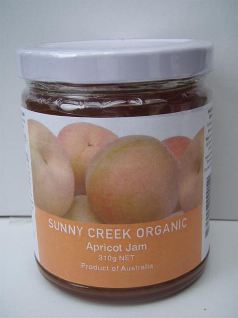 Sunny Creek Organic Apricot Jam 310g