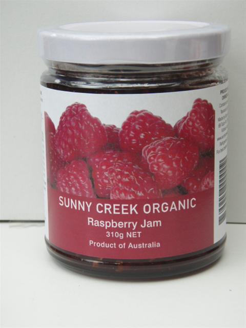Sunny Creek Organic Raspberry Jam 310g