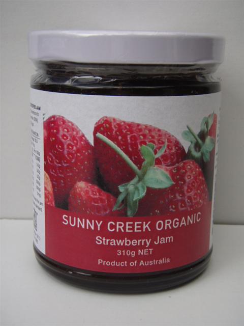 Sunny Creek Organic Strawberry Jam 310g