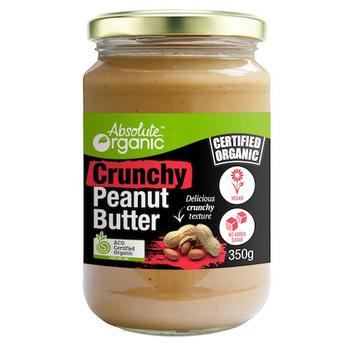 Absolute Organic Butter Peanut Crunchy 350g