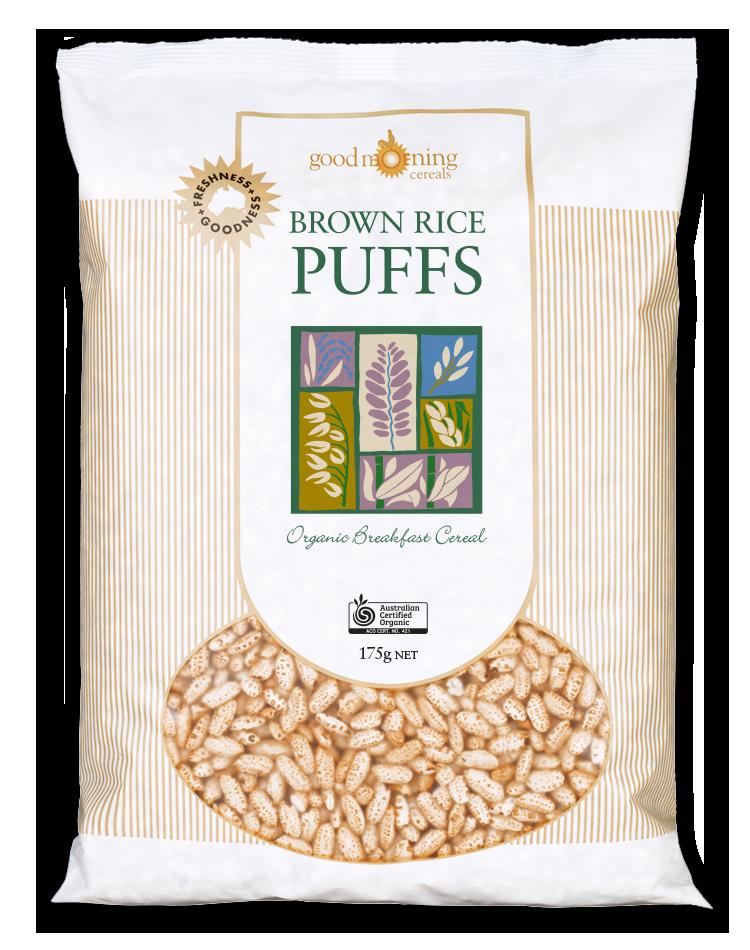 Good Morning Organics Cereals Brown Rice Puffs 175g