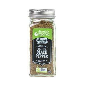 Absolute Organic Herbs Dried Cracked Black Pepper 55g