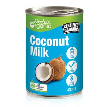 Absolute Organic Coconut Milk 400ml