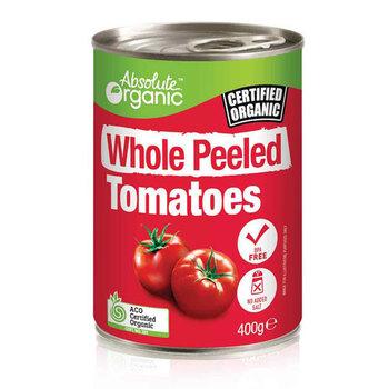 Absolute Organic Tomatoes Whole Peeled Tin 400g