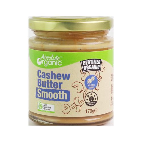 Absolute Organic Butter Cashew Smooth 170g