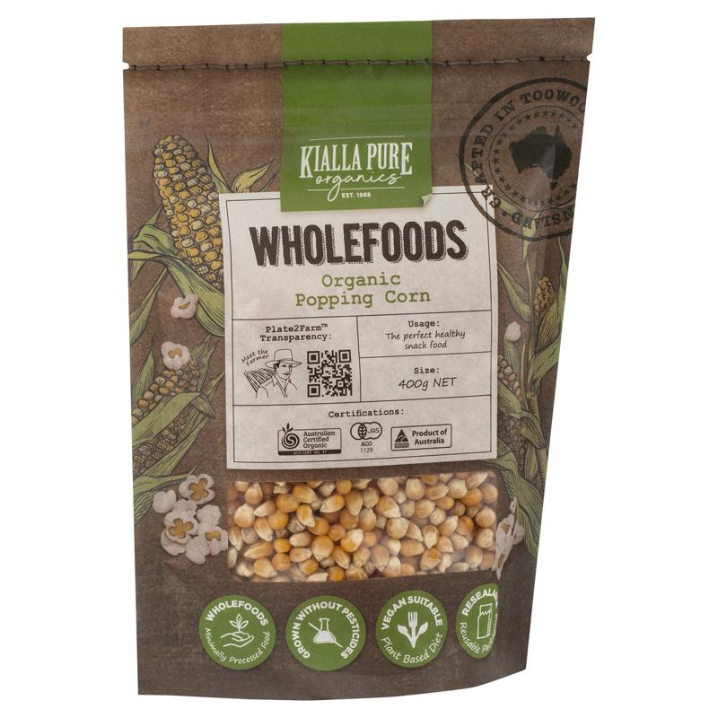 Kialla Organic Popping Corn 400g (ea)