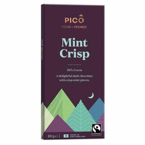 Pico Organic Chocolate Mint Crisp 80g