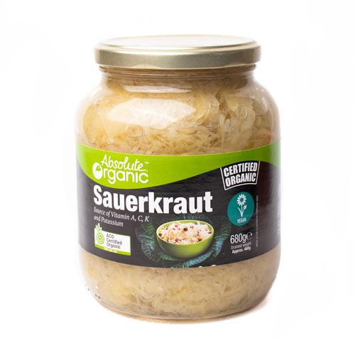 Absolute Organic Sauerkraut 680g