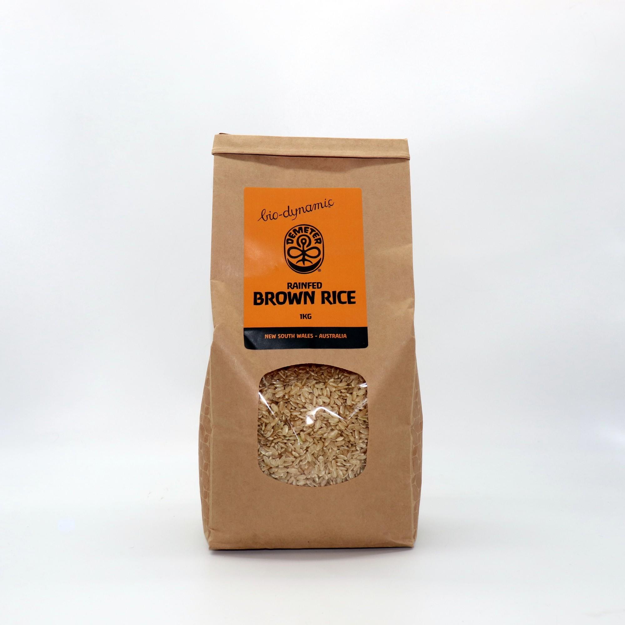 Biodynamic Rice Brown Rain Fed Demeter 1kg
