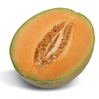 Organic Rockmelon HALF /ea