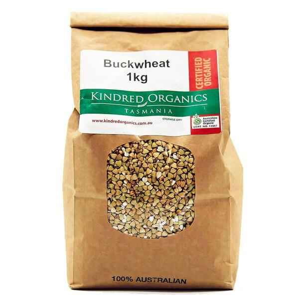 Kindred Organics Buckwheat 1kg bag /each