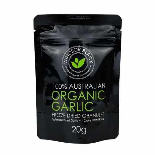 Windsor Black Organic Freeze Dried Garlic Granules 20g