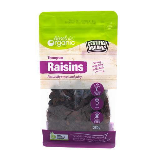 Absolute Organic Dried Raisins 250g