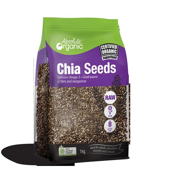 Absolute Organic Seeds Chia 1kg