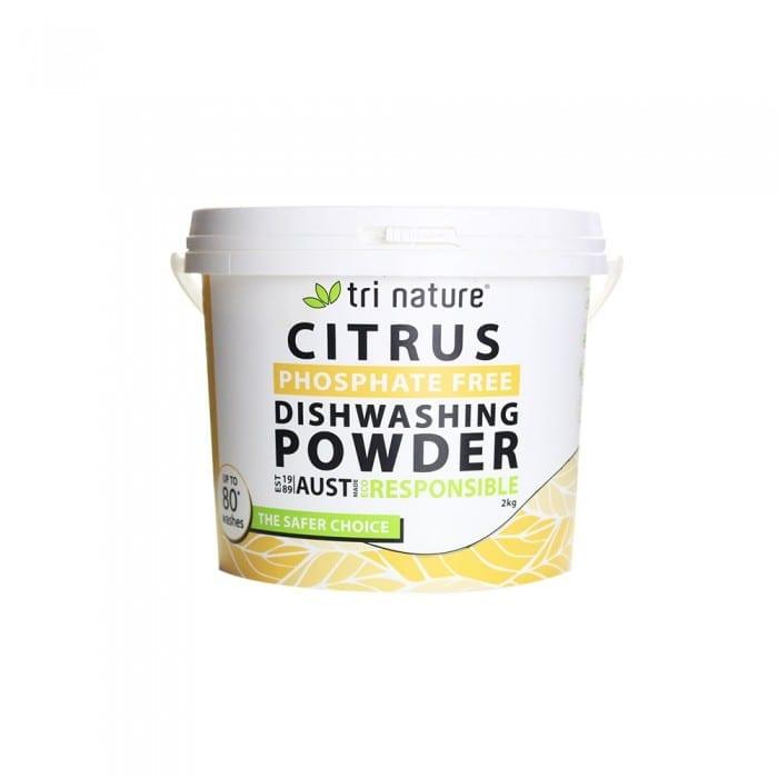 Tri Nature Dishwashing Powder 2kg Bucket