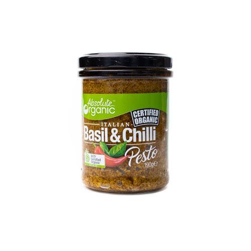 Absolute Organic Pesto Basil/Chilli 190g