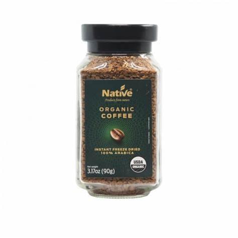 Native Organic Coffee Instant Freeze Dried 90g