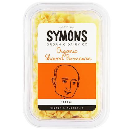 Symons Organic Cheese Parmesan Shaved 140g